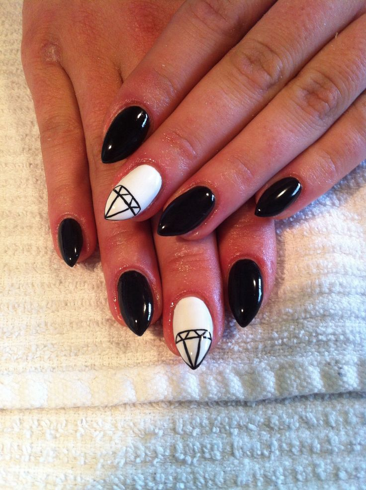 Black And White Gel Nails