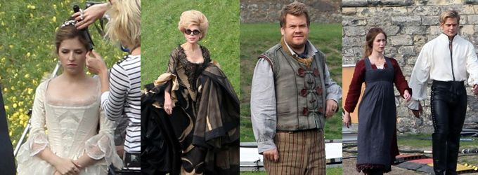 INTO THE WOODS Movie Cast In Costume! Meryl Streep, Emily Blunt, Chris Pine, Anna Kendrick. SO EXCITED!