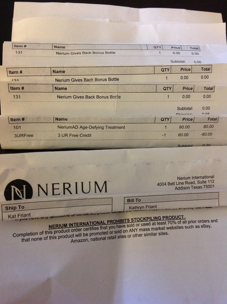 Nerium Gives Back Programhere are just a FEW receipts I had - free receipts online
