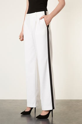 Grossgrain Wide Leg Trousers