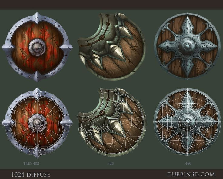 3 Hand painted shields by JerkDrive on DeviantArt