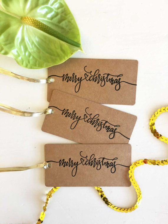 Rustic Christmas Gift Tags  Rustic Holiday Gift Tags  by CocoPress