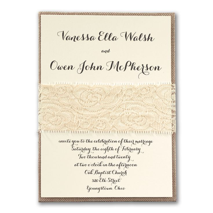 Rustic Elegance   Ivory Wedding Invitation With Box  Http://partyblockinvitations.occasions