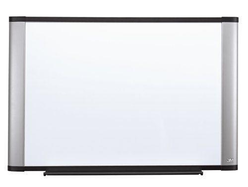 3M Dry Erase Board, Melamine, Wide Screen Style Aluminum Frame.