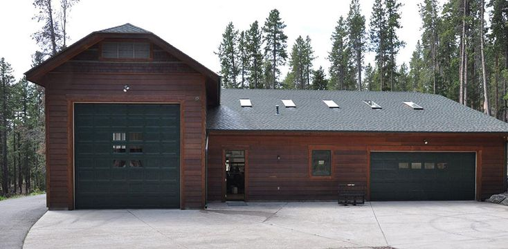 17 best log garages images on pinterest carriage doors garage doors and timber homes