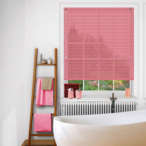 a beautiful glossy pink venetian blind the perfect choice for a girls room
