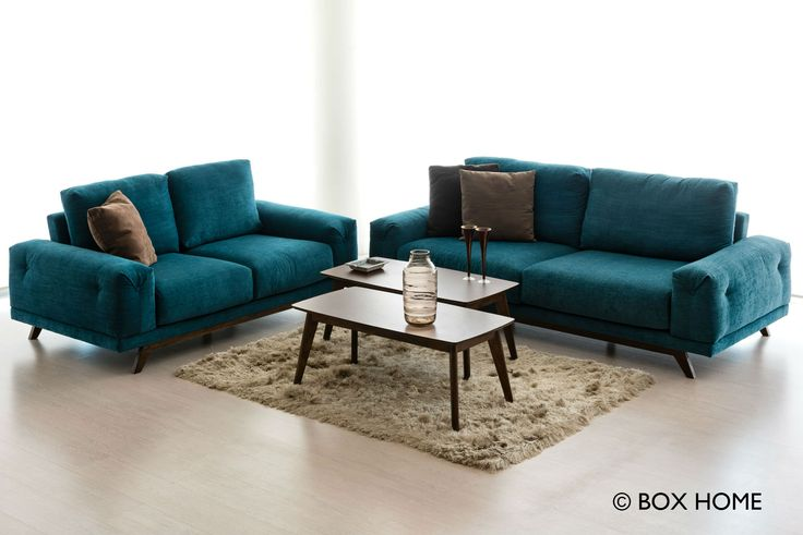Καθιστικό SAMOS με 3-θέσιο & 2-θέσιο καναπέ & τραπεζάκια σαλονιού Leon  design living room