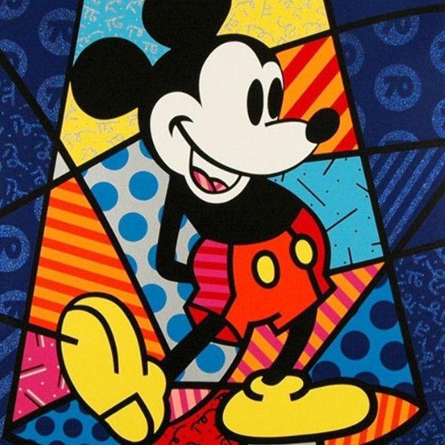Disney S Mickey Mouse By Romero Britto Disney Fine Art Mickey