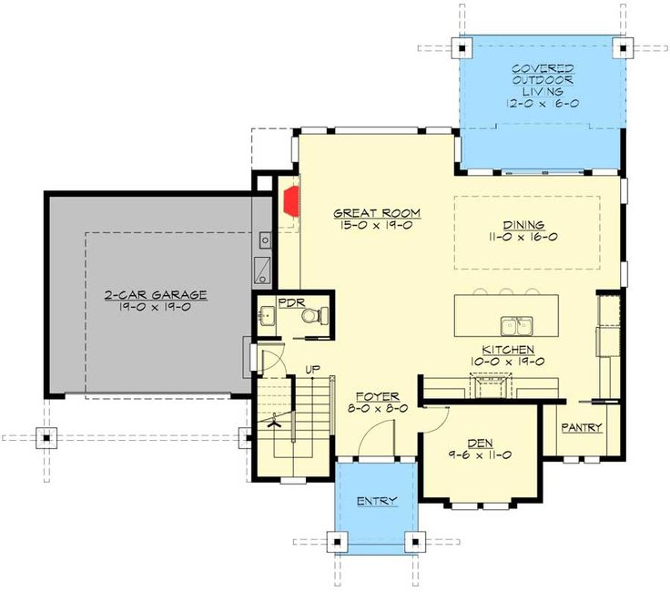 Plan 23604JD: Spacious Open Layout