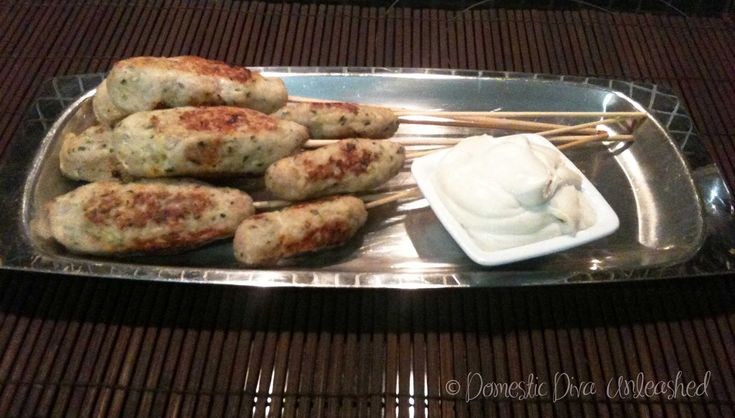 Domestic Diva: Chicken Koftas with Cashew Cream. Make into little meatballs for lunch boxes.