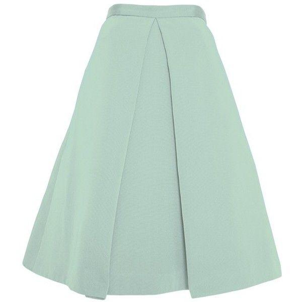 TIBI Katia Faille Full Skirt found on Polyvore