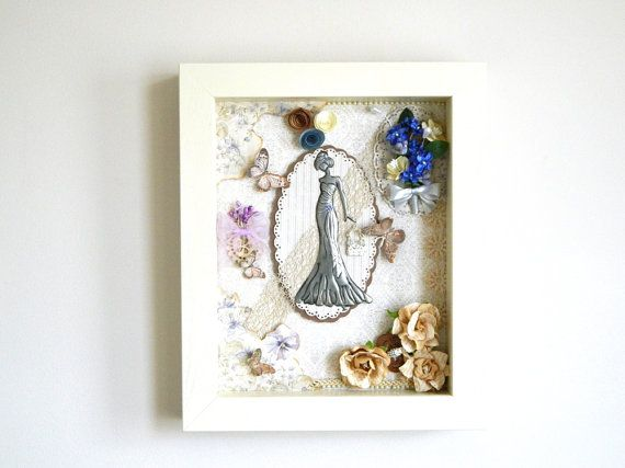 Mixed Media OOAK Collage Victorian Ball Gown by Loutul on Etsy
