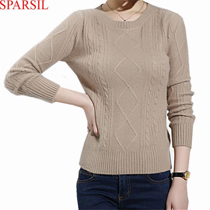 Бренд Sparsil, представляет женский свитер с o-образным вырезом из ангоры, вязаные зимние свитера. Короткие шерстяные пуловеры с длинным рукавом, трикотаж, удобный Джемпер, А11