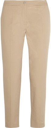 Kenzo Cropped Stretch-Cotton Twill Straight-Leg Pants