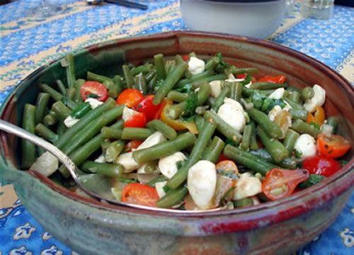 Tomato, Mozzarella and Green Bean Salad