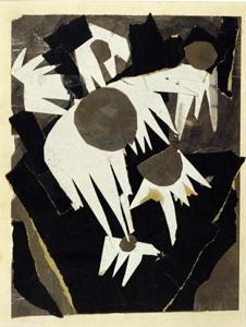 """Margit Téry-Adler, """"composition study, Carline Thistle"""", c. 1920"""