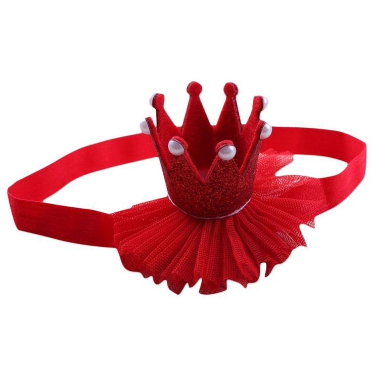 Tiara Crown Christmas photoshoot cakesmash 1st Birthday Princess hair headband    eBay