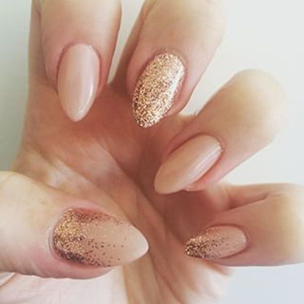 Gold Nail Designs 2016 For Prom Acrylic Nails Latest Style | I'm thinking abut trying this shape (I'm always going with a sharp square). Decisions decisions...