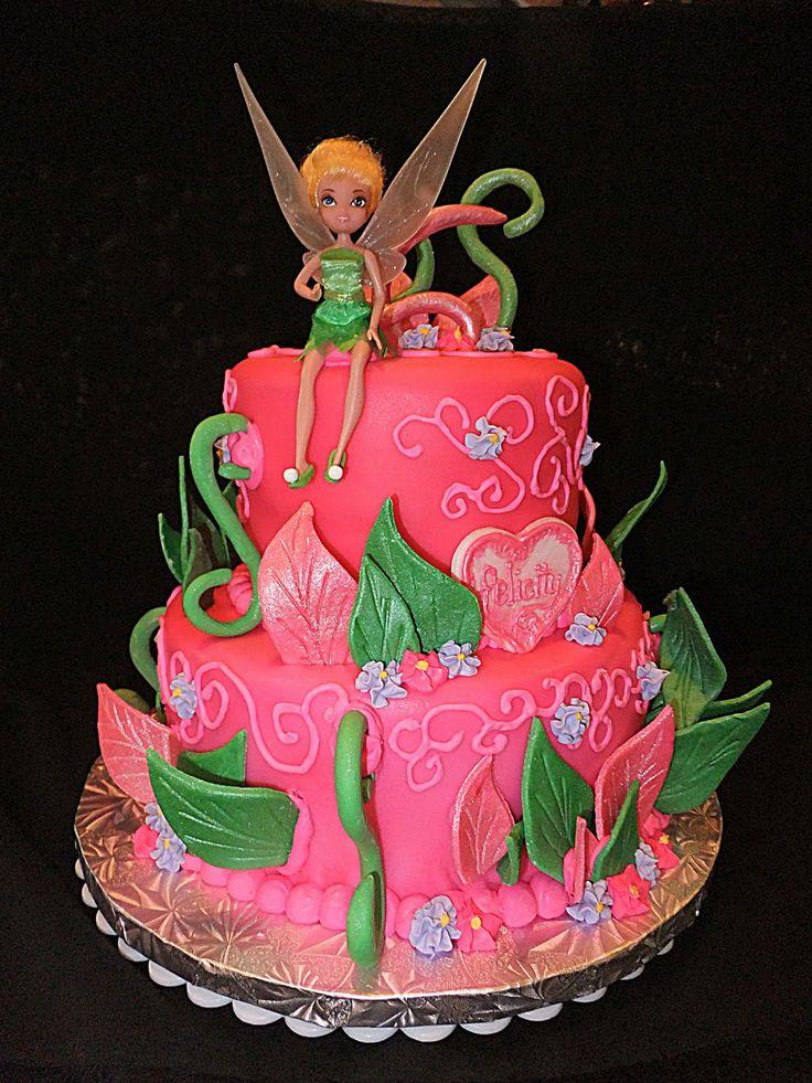 tinkerbell 3 tier cake | Birthday Cakes Tinkerbell