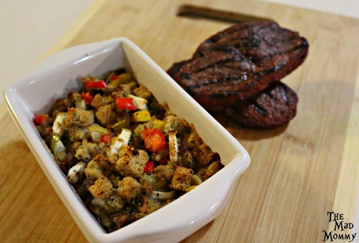 Bake the Spicy Italian Sausage and Apple Stuffing in a 400