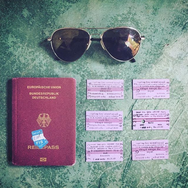 Realization of the day: Sri Lankan train tickets and German passports make a pretty team. 😛 I'm determined to add some more tickets to my little souvenir collection while I'm here. 🚞 #travelgram #travelsrilanka #srilankabytrain #mypassportlooksquiteused🙈 #lifeisajourney #travelwithme #vintagetrainticket #instaflatlay #souvenir #passport #travel #travelflatlay #shabbychic #stilllife #sunglasses