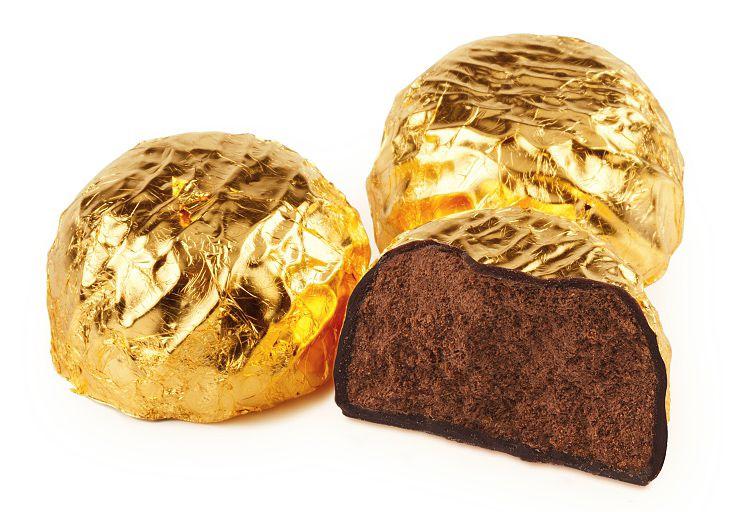 Золотые конфеты трюфели Люкс