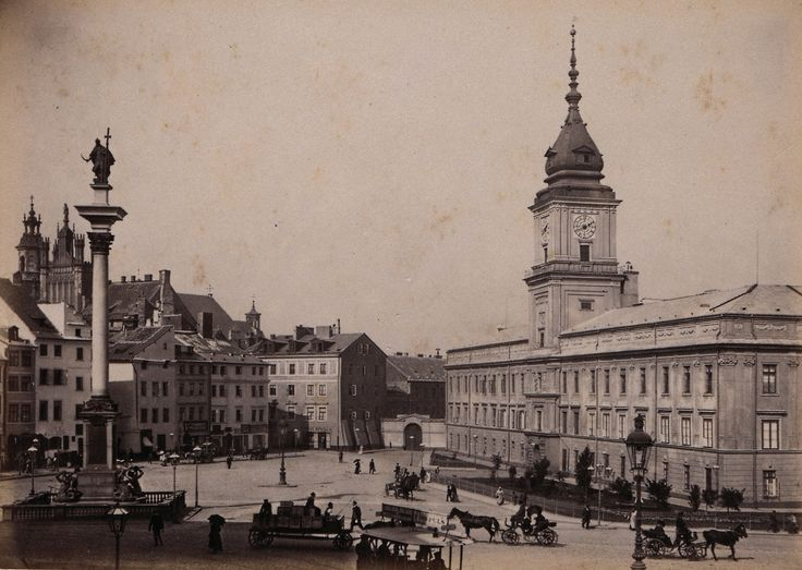 Royal Castle and Old Town, around 1870