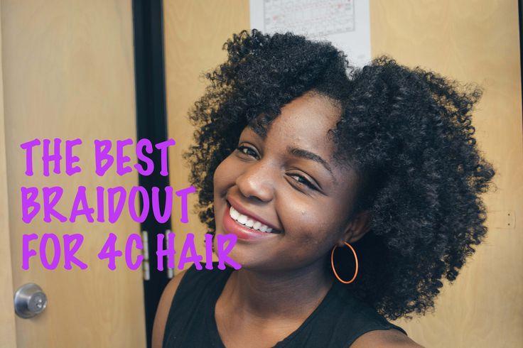 THE BEST BRAIDOUT TECHNIQUE FOR 4C HAIR
