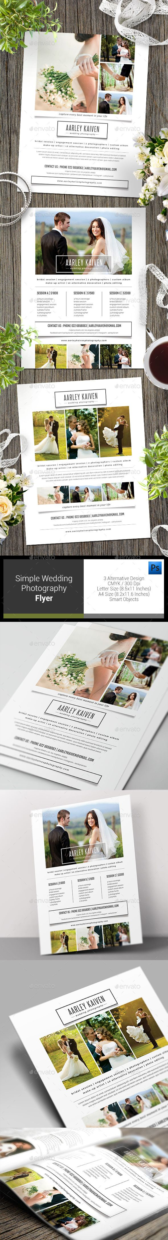 Simple Wedding Photography Flyer Template PSD #design Download: http://graphicriver.net/item/simple-wedding-photography-flyer/12818330?ref=ksioks