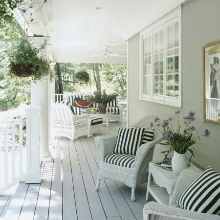 Home-Dzine - How to paint wicker furniture, love the look of this patio