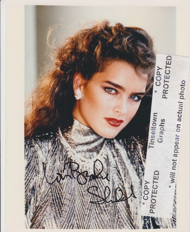 Brooke Shields Young Signed 8x10 Photo Proof | eBay