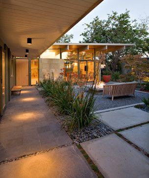 Midcentury Home Photos: Find Midcentury Modern Design and Midcentury Decor Online - roofline, courtyard,