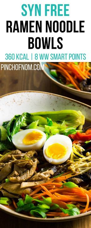 Syn Free Ramen Noodle Bowls | Pinch Of Nom Slimming World Recipes   360 kcal | Syn Free | 8 Weight Watchers Smart Points