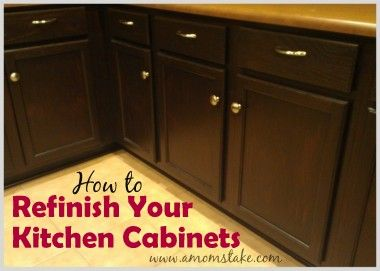How To Refinish Kitchen Cabinets Makeover Amp Tutorial 2