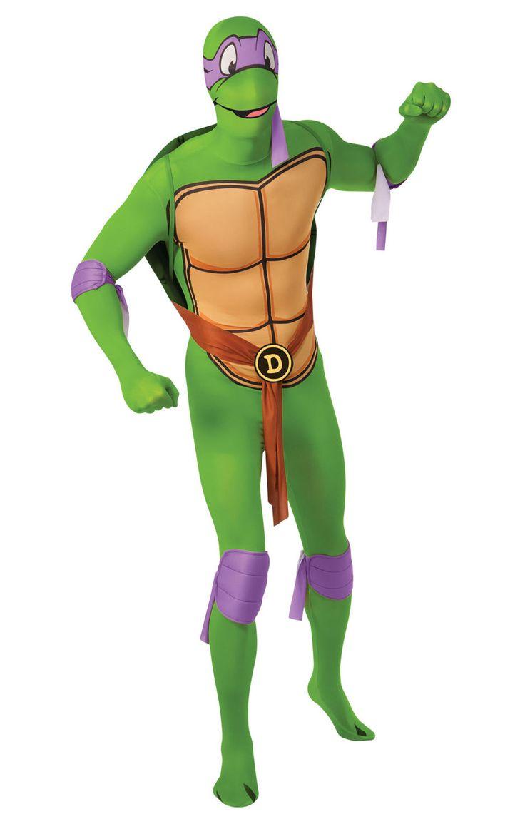Donatello (TMNT). Second Skin sukka-asu on kestävästä ja venyvästä materiaalista valmistettu hulvaton naamiaisasu.