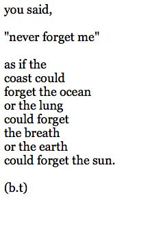 Never forget me ...