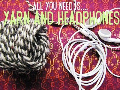 DIY: yarn-wrapped headphones :) LOVE this blog!