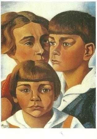 1928 drie kinderen Radecker