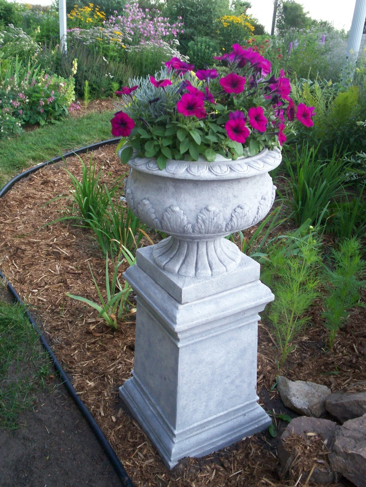 These Urn Look Like Concrete But Are Not Garden Decor