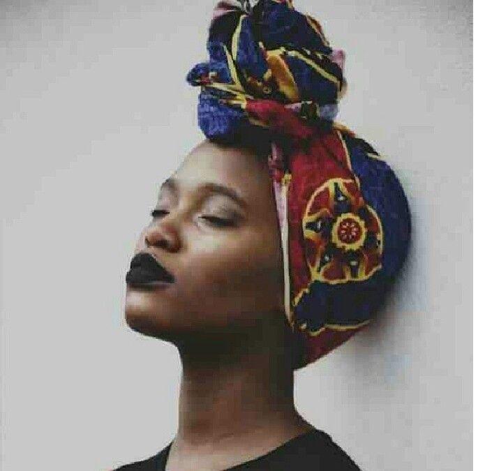 African Print Head Scarf African Influence Pinterest