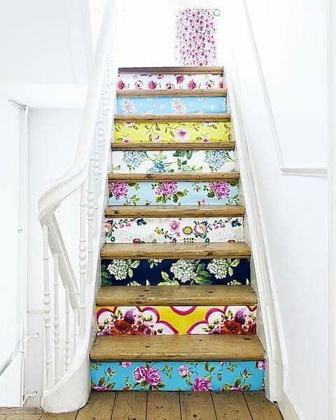 Colorful Patterned Stair Risers