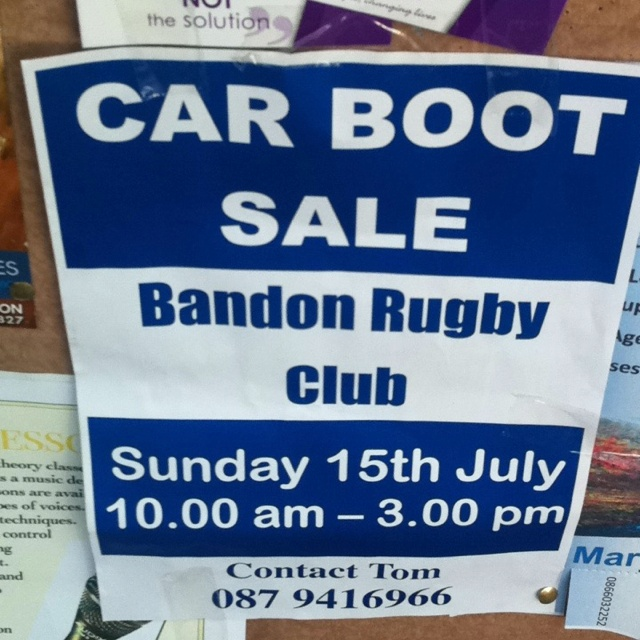 Car boot sale in Bandon