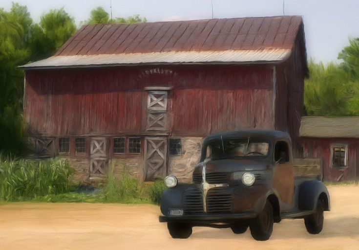 1939-47 Dodge pickup truck - painting by Jack Zulli
