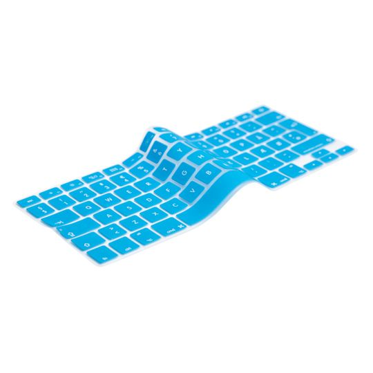 English Turquoise Keyboard Cover Prolongs the life of your MacBook. Protects your keyboard against dirt, liquids, dust etc. The thinnest and most precise keyboard protection cover.