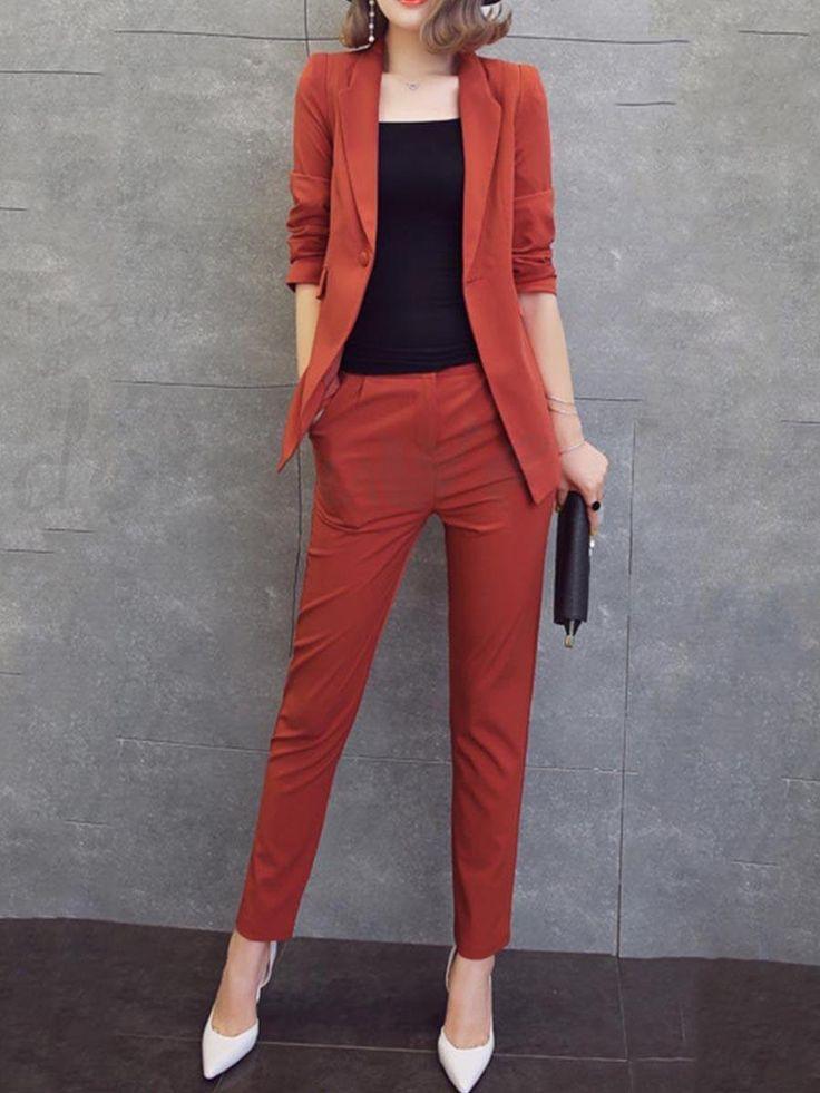 レディース2点セット!スーツコート+パンツ セットアップ パンツスーツ 美シルエット OL通勤 リクルート 就活 ビジネス フォーマル 12945491 - おしゃれセットアップ - Doresuwe.Com