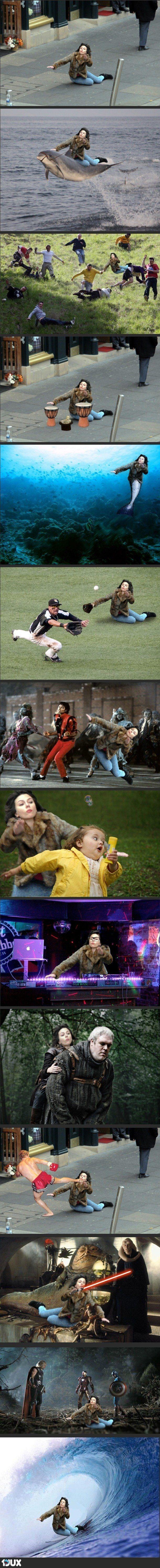 Scarlett Johansson Fell and it Became the Best Meme Ever... :D