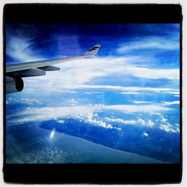 Helsinki to Singapore. Finnair A340.