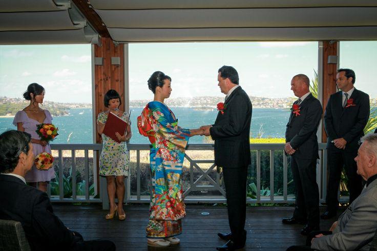 Yoshie and Nathan's wedding at Gunner's barracks Mosman
