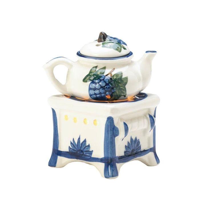 Teapot Stove Oil Warmer, White