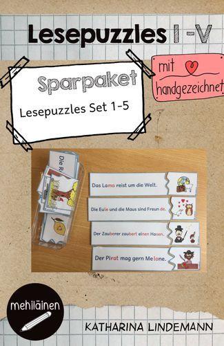 lesepuzzles sparpaket schulstartmitlmp2019 unterrichtsmaterial in den f chern deutsch. Black Bedroom Furniture Sets. Home Design Ideas
